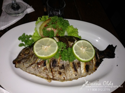 Fire oven salt roasted whole fish