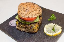 Mena's healthy burger