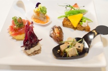 Savory and sweet canapes