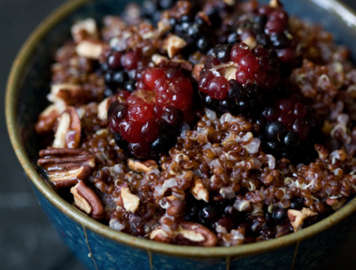 14. Vegan - DESSERT - Warm and nutty cinnamon quinoa