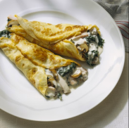 3. Vegan - DINNER - Vegan Florentine Crepes