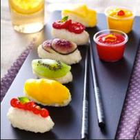 4. Vegan - DESSERT - Fresh fruit sushi dessert