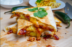 4. Vegan - LUNCH - Caramelized Pineapple quesadillas