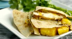 4. Vegan - LUNCH - Caramelized pinneapple quesadillas