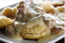 Biscuits and vegan gravy